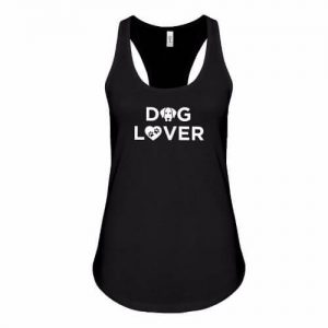Racerback Tank Dog Lover Black