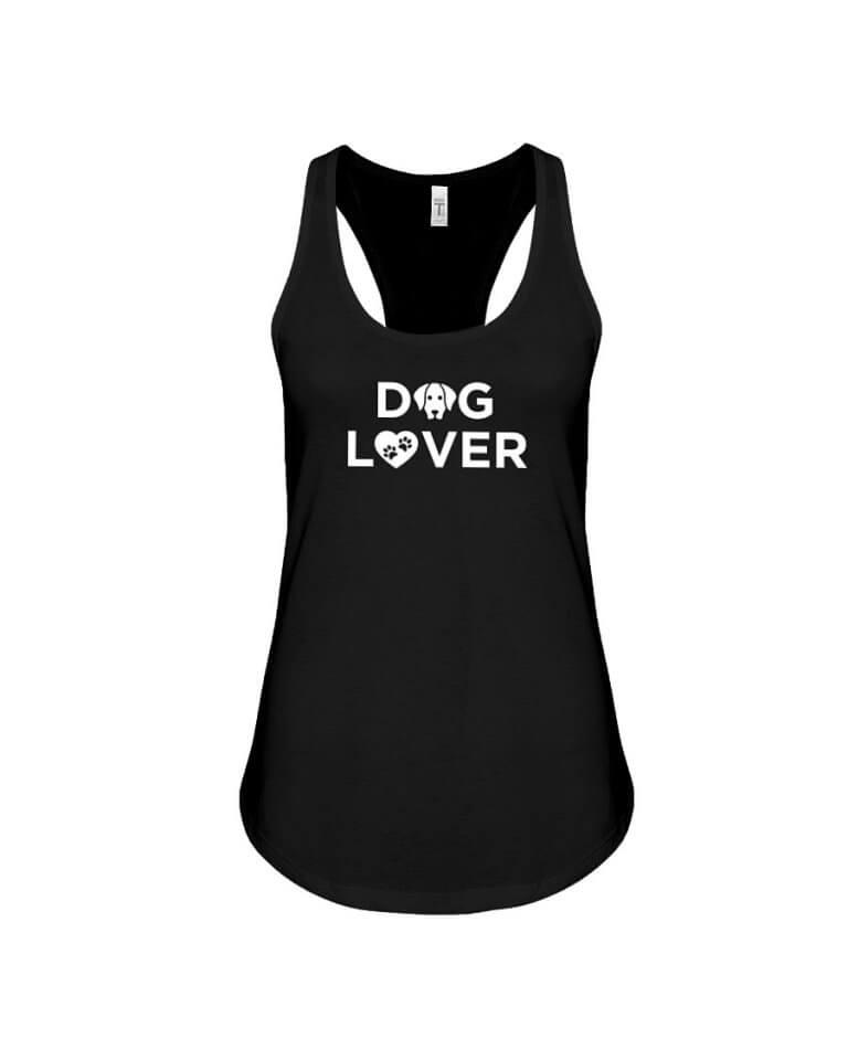 Racerback Tank Dog Lover Black