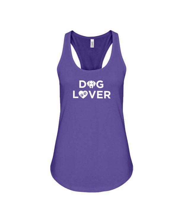 Racerback Tank Dog Lover Purple