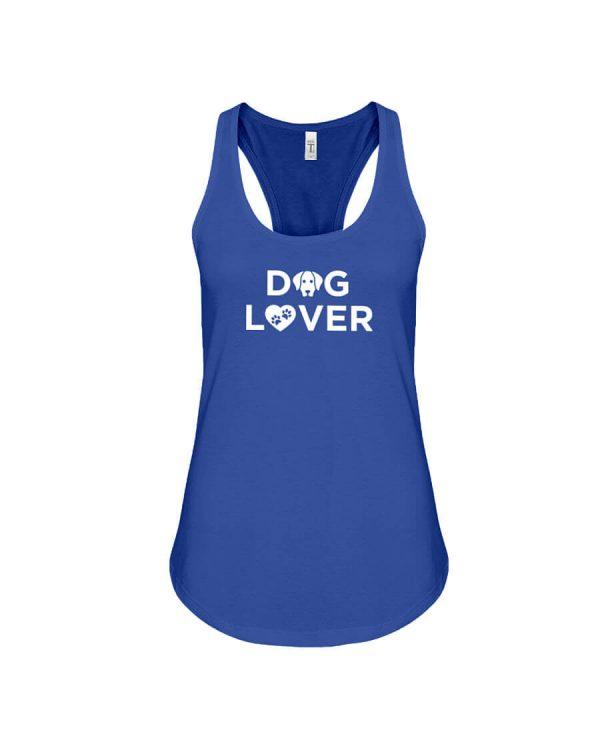 Racerback Tank Dog Lover Royal Blue