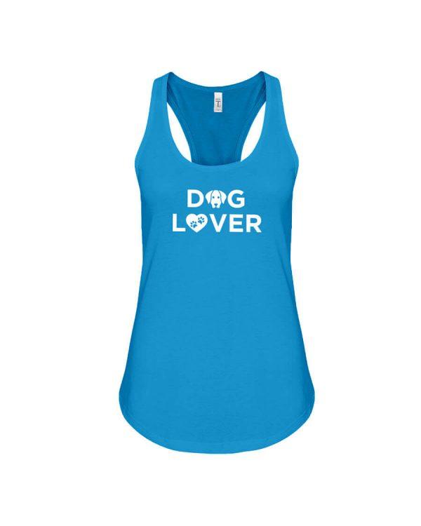 Racerback Tank Dog Lover Turquoise