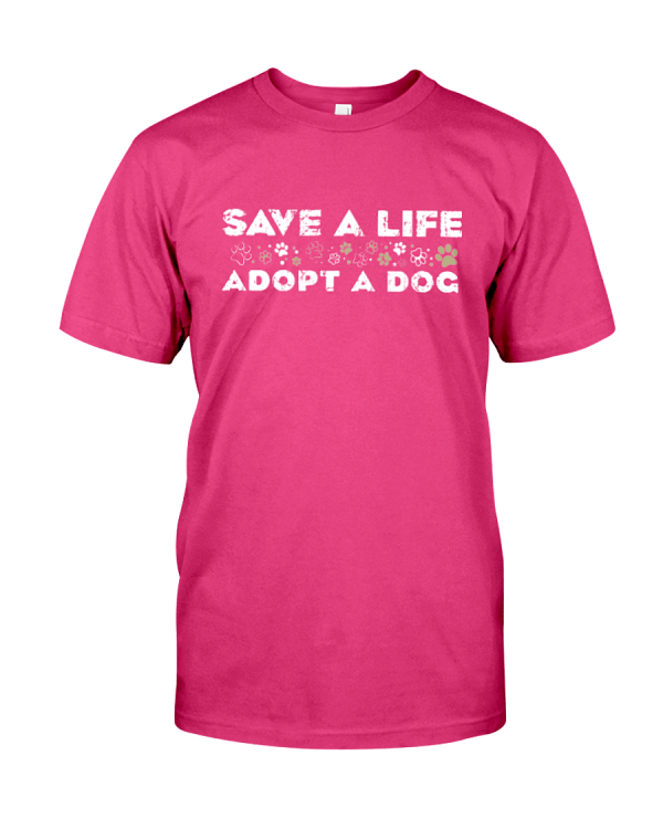 Adopt A Dog T-Shirt Heliconia